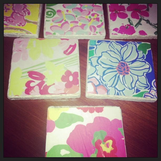 Lilly coasters...I think I might be painting a lot next term with Lilly's inspiration:)
