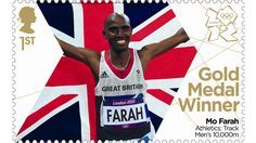 Royal Mail printed Team GB Gold Medal Winner stamps within 24 hours of them willing. Mo Farah