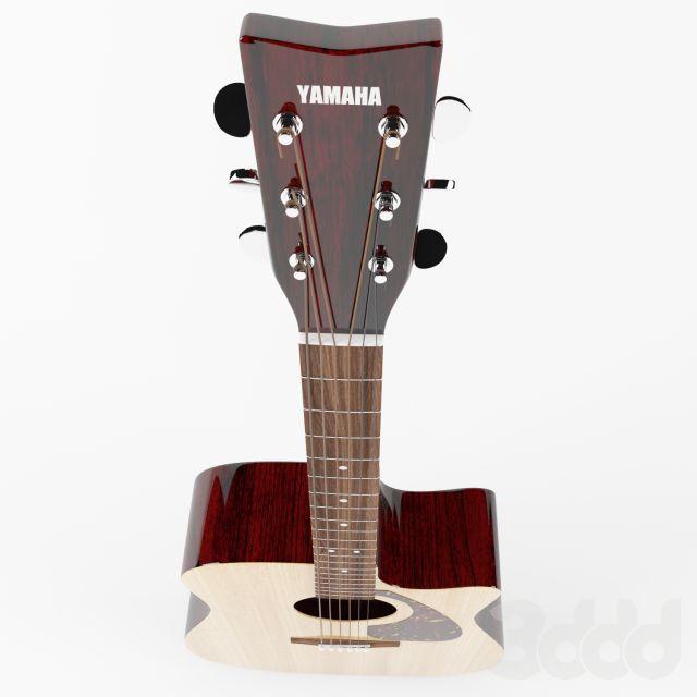 3d модели: Музыкальные инструменты - Yamaha acoustic guitar