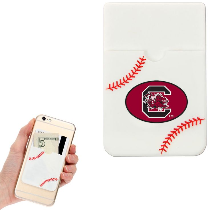 South Carolina Gamecocks Baseball Sticker Wallet - White