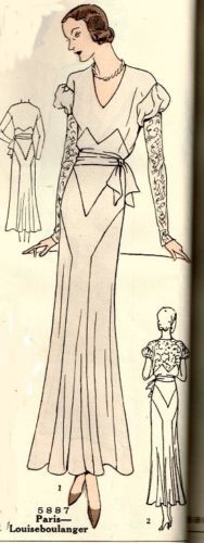 Pictorial Review 5887 by Louise Boulanger | 1930s Misses' Dress