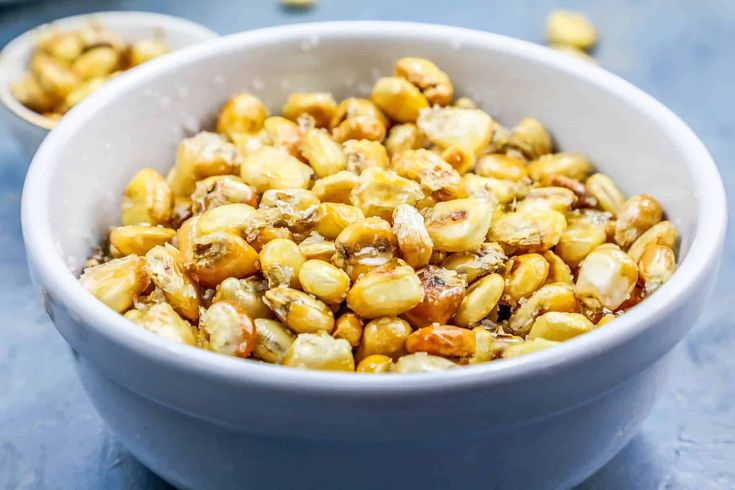 Homemade corn nuts either baked or fried snack recipe