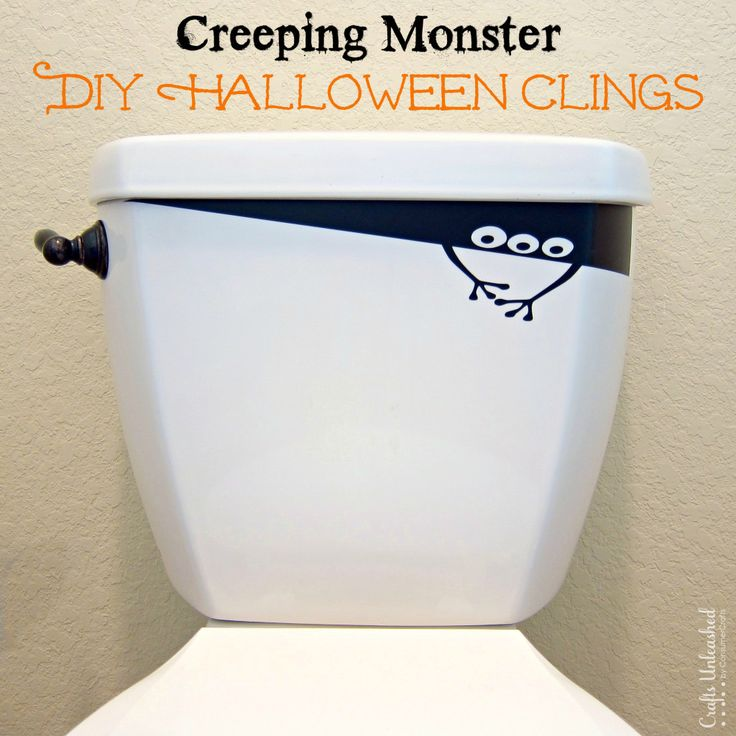 diy creeping monster vinyl halloween decorations craftsunleashedcom - Halloween Door Decorating Ideas