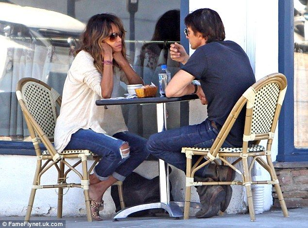 Adults only: The date-like atmosphere of the breakfast was enhanced by the absence of Halle's daughter, Nahla, and the couple's son, Maceo