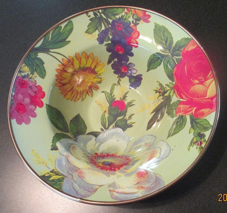 Mackenzie Childs Flower Market Green Enamel Bowl & 9 best Mackenzie Childs images on Pinterest | Flower market Enamels ...