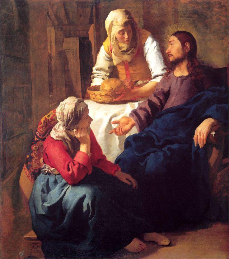 Ο Χριστός στο σπίτι της Μαρίας και της Μάρθας.(1654-55)