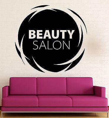 Vinyl Decal Beauty Salon Quote Wall Stickers Hair Spa Woman Salon Logo Barbershop (ig2453)