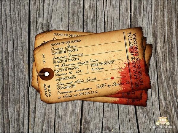 Haloween party invitations
