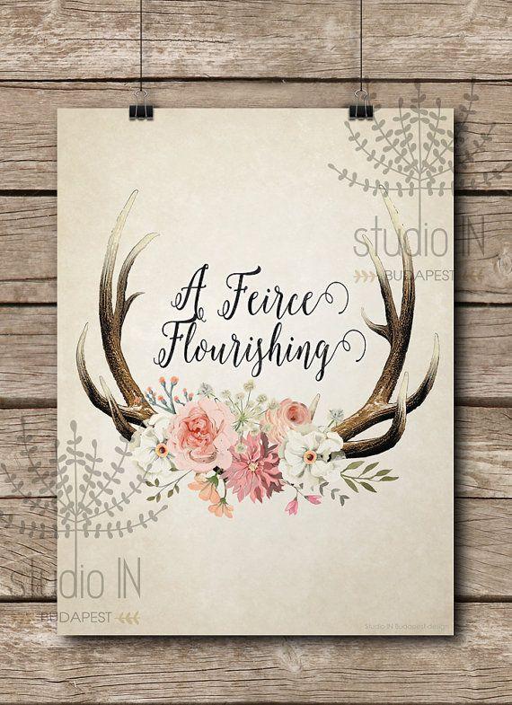 Floral Antler Tattoo: 60 Best Antler Tattoo Ideas Images On Pinterest
