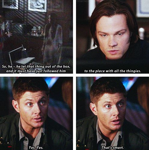 [gifset] Love drunk Winchesters, they are always funny :) 7x18 Party On, Garth #SPNS7 #Dean #Sam
