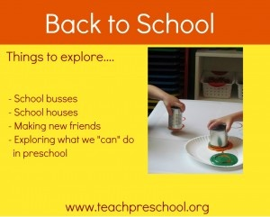Get preschool off to a great start! Click here to find ideas for going back to preschool!