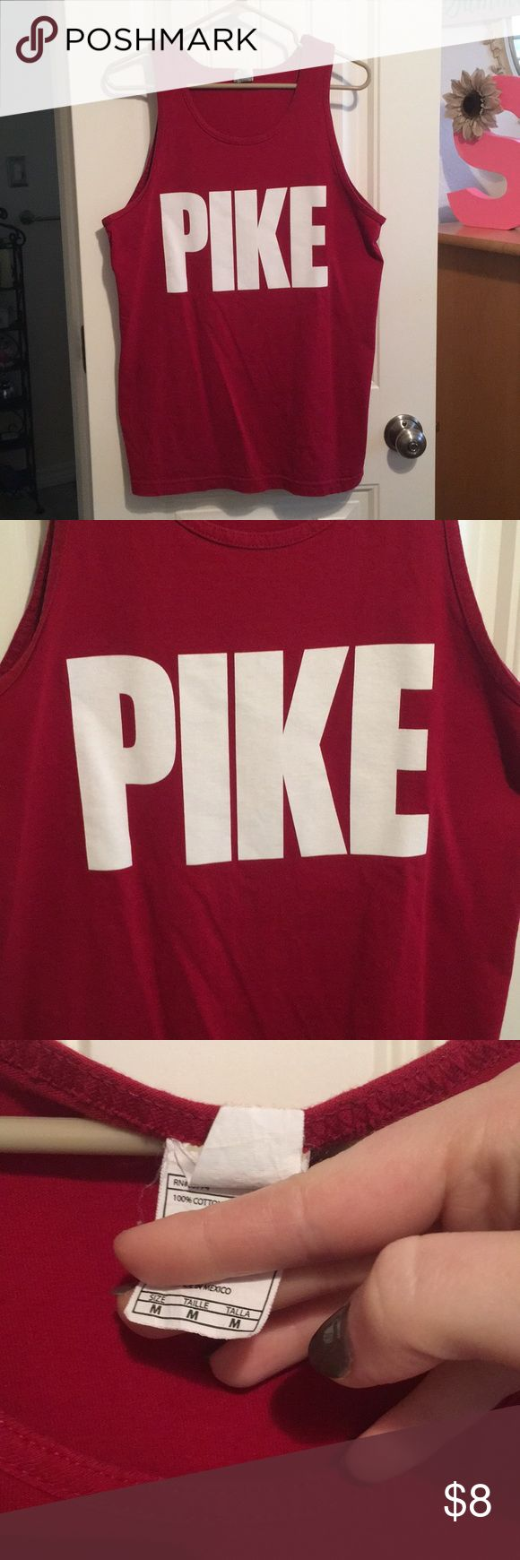 Texas A&M PIKE fraternity tank top Excellent condition! Bundle for more discounts 😊👍🏻 Shirts Tank Tops