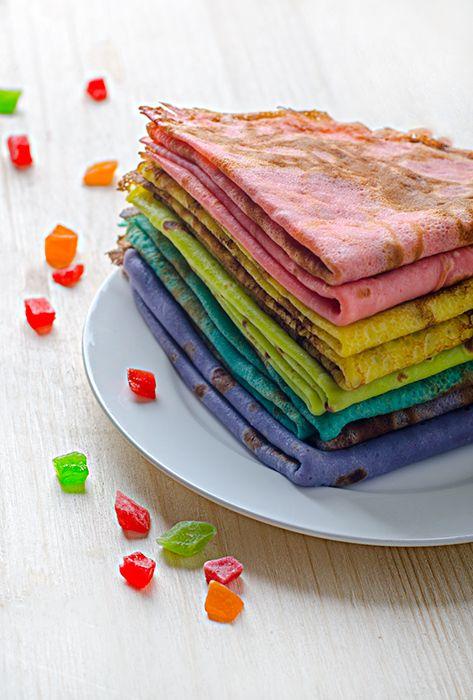 Разноцветные блины. Рецепт разноцветных блинов