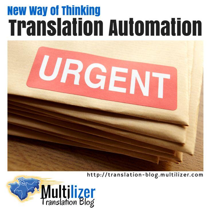 New Way of Thinking Translation Automation