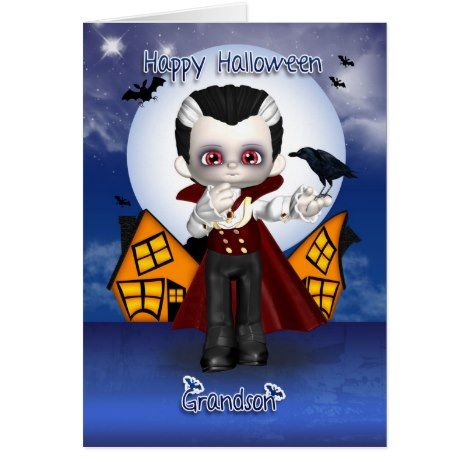 1739 best halloween cards invites and gifts images on pinterest grandson fun vampire halloween greeting card stopboris Images