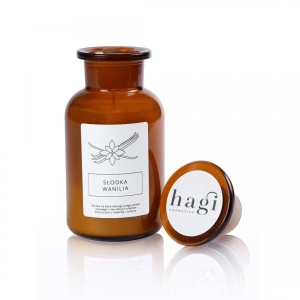Świeca sojowa (butla) - Słodka Wanilia - Hagi Cosmetics