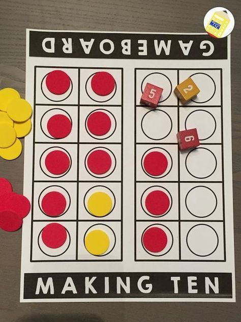Making Tens - Build number sense by reinforcing the math strategy of making ten. Teach students to make 10 to add and strengthen their mental math skills. Grab the FREE addition game Find the Ten Within.