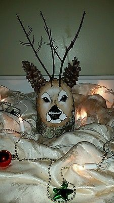 Handmade Reindeer Log decorations, Christmas, holiday, Rustic centerpiece  | Crafts, Handcrafted & Finished Pieces, Holiday | eBay!