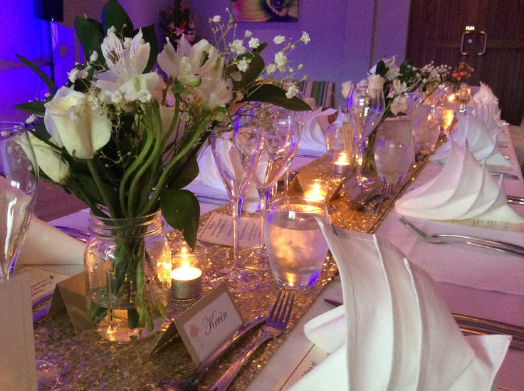 NEW Gold Sequin Table Runners