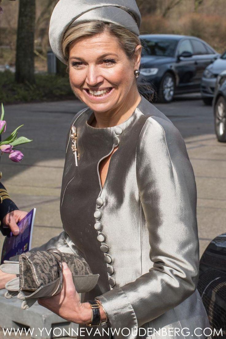 Koningin Máxima woont woensdag 9 maart 2016 als erevoorzitter van het platform ambassadeurs 'Meer Muziek in de Klas' de viering van het tienjarig bestaan van het Leerorkest bij in de Gashouder van de Westergasfabriek in Amsterdam.