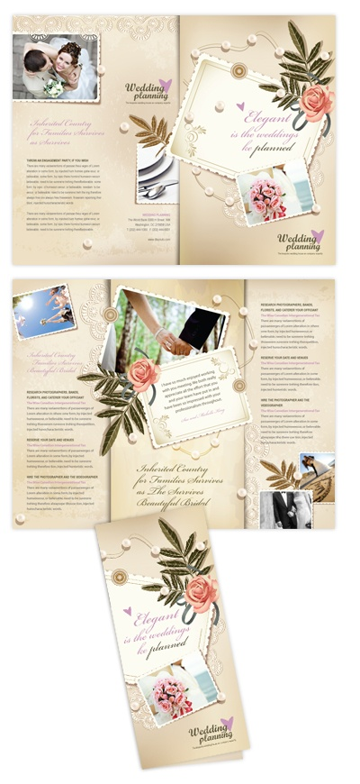 88 best images about tri fold brochure on pinterest for Wedding planner brochure template