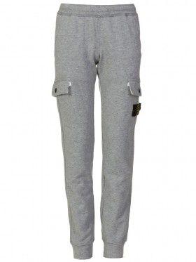 Stone Island Junior Grey Marl Badge Sweatpants