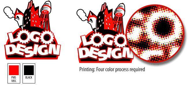 https://s-media-cache-ak0.pinimg.com/736x/8d/82/60/8d8260f68350956d85f2585bcd811517.jpg  A spot colour print job utilising a shade of red.
