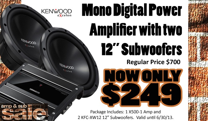 Great deals on Amp & Sub packages to make your car boom!