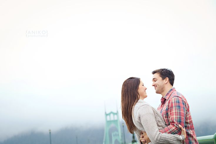 Cathedral Park, Portland engagement photo