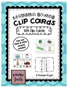 Beginning Sounds Clip Cards: Students use clothespins to clip the letter that matches the beginning sound of the picture. Great for interventions, morning work, and literacy centers!
