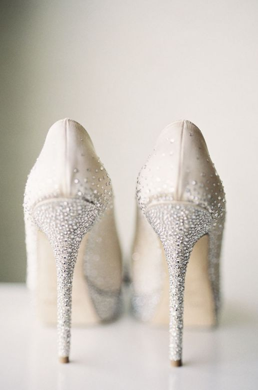 Featured Photography: Caroline Tran Photography; Wedding shoes idea.