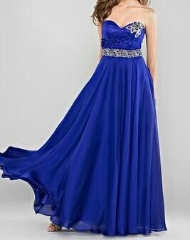 Vestido azul francia