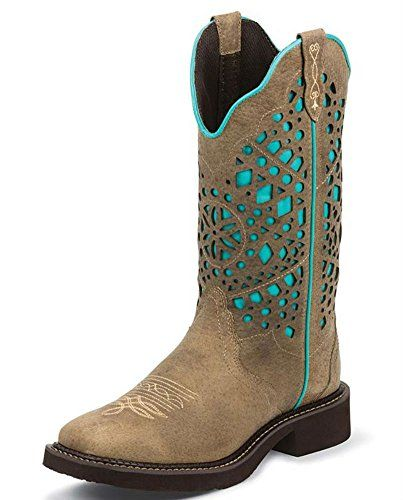 Justin Gypsy Square Toe Boots tan a teal | justin boots women s gypsy square toe equestrian boot sanded buffalo 8 ... got them today 4/9/15 for birthday going in may to run for sweetheart and got new button up