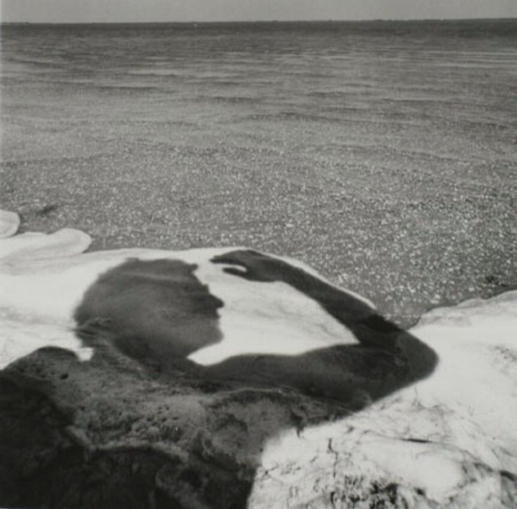 Arthur Tress, Figure Shadow in Beach Water