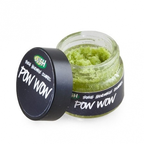 LUSH Pow Wow Lip Scrub Has freaking pop rocks in it.. I keep pushing this on every customer that comes through the door it's amazing!