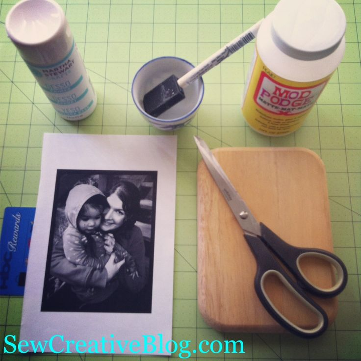 Photo to wood transfer at Sew Creative supplies - finally someone explains EVERYTHING that you need!  Like exactly what the freaking gel medium is!
