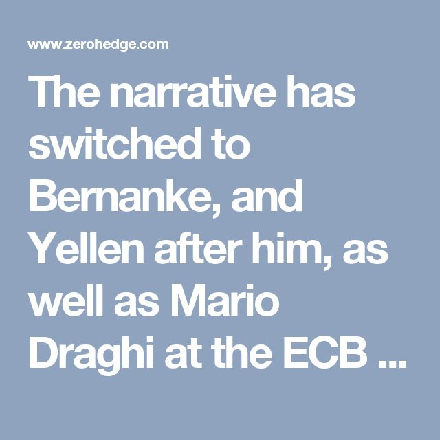 The narrative has switched to Bernanke, and Yellen after him, as well as Mario Draghi at the ECB and Haruhiko Kuroda at the Bank of Japan, saving the world from doom. But once again, they are the ones who are creating the crisis, not the ones saving us from it. They are saving the banks, and saddling the people with the costs.