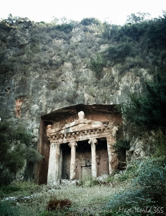 Fethiye rock tombs - Photo of the ancient rock tombs in the Fathiye