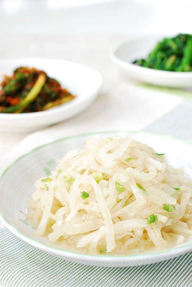 23 best recipes korean images on pinterest korean food recipes mu namul korean radish side dish forumfinder Image collections