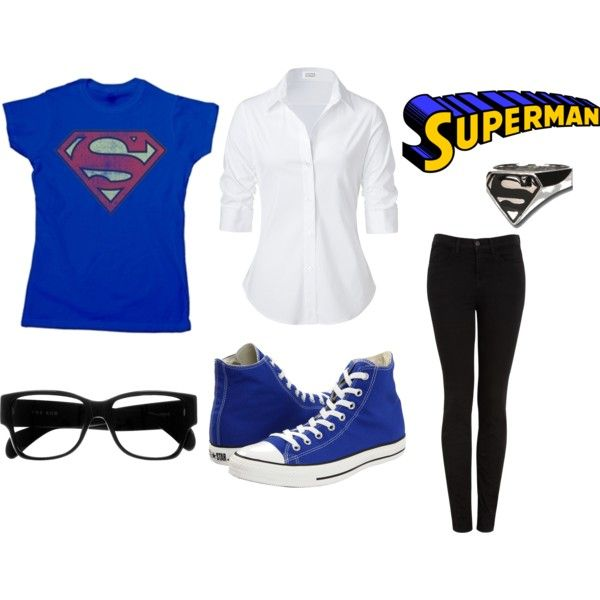 """Superman Casual"" by soundofinevitability on Polyvore"