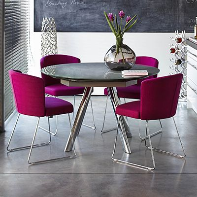Javier - Extending Round Table GREY   Tables   Dining Room Barker & Storehouse 120cm diameter with 2 extendable pieces to 190cm. Great shape £929 on sale down to £649