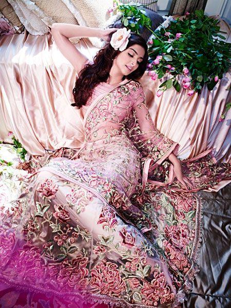 Indian film actress Sonam Kapoor, daughter of Indian film actor Anil Kapoor and granddaughter of filmmaker Surinder Kapoor.