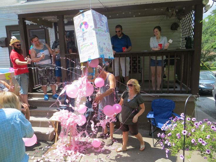 Genderreveal Pull String Box Pinata I Got The Idea From