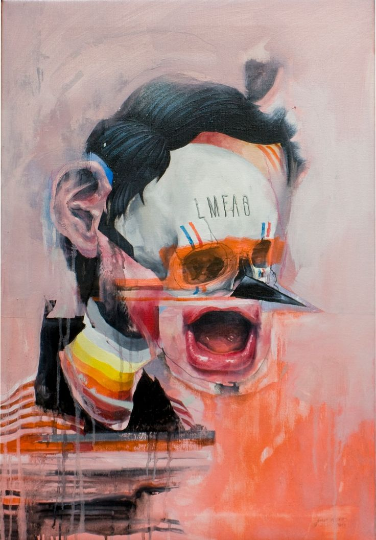 Joram Roukes - His works are painterly recombinations of daily imagery wielded into a Frankensteinian grotesque