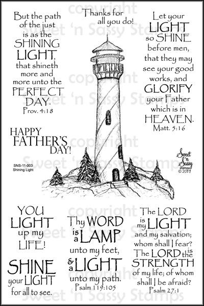 Sweet 'n Sassy Stamps - Shining Light Clear Stamp Set, $15.00 (http://www.sweetnsassystamps.com/products/Shining-Light-Clear-Stamp-Set.html)