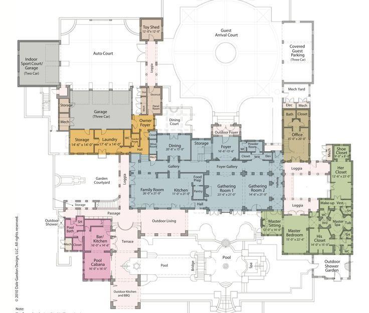 Mega mansion house plans for Luxury estate floor plans