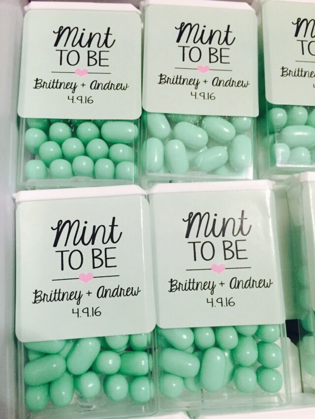 ideas for beach wedding party favors%0A Wedding Favor Idea  Personalized stickers on Tic Tacs   Mint to Be