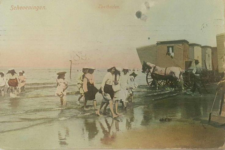 Scheveningen voetbaden gelopen kaart 1908