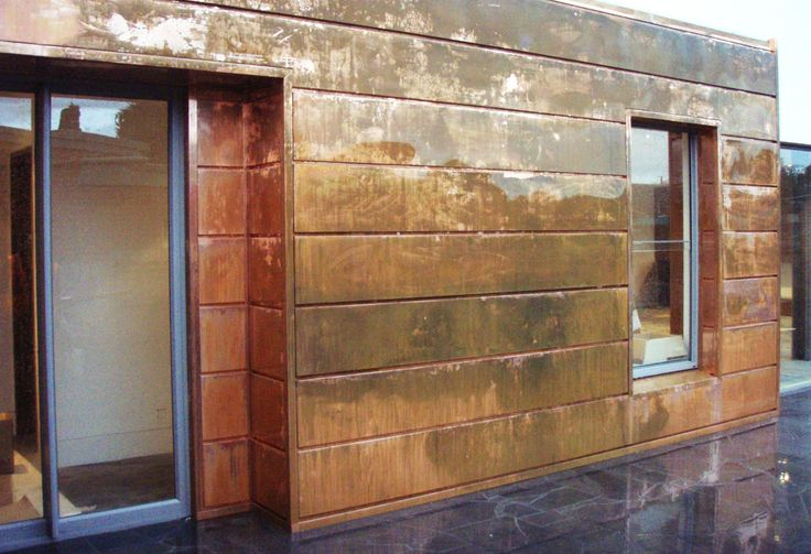 Copper Wall Paneling : Copper walls interlocking panel is a contemporary