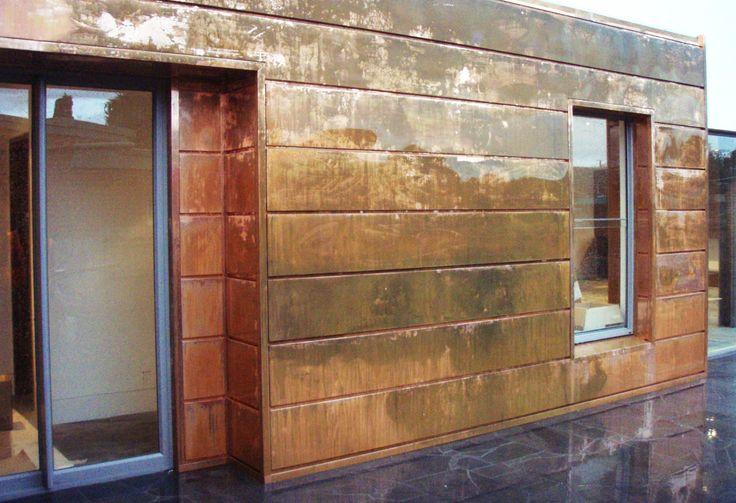 Copper Wall Cladding : Copper walls interlocking panel is a contemporary